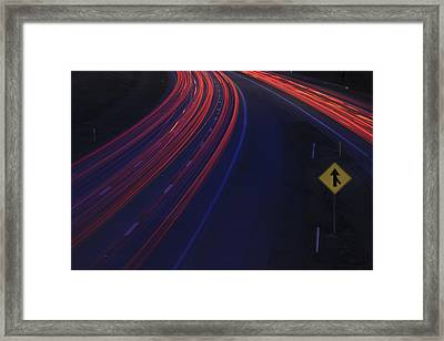 Trail Blazing Framed Print