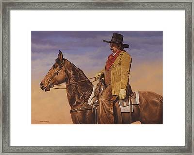 Trail Boss Framed Print