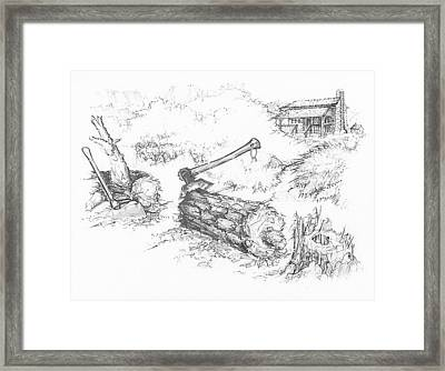 Trail Divides Framed Print