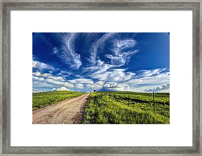 Trail Drive Road Framed Print