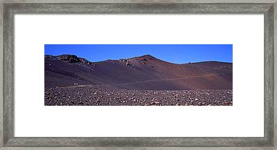 Trail In Volcanic Landscape, Sliding Framed Print by Panoramic Images