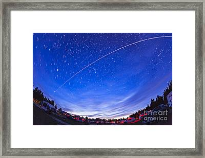Trail Of The International Space Framed Print by Alan Dyer