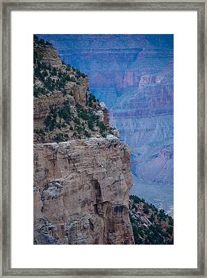 Trail On The Edge Framed Print by Nickaleen Neff
