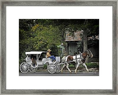Trail Ride To The Past Framed Print by Nava Thompson
