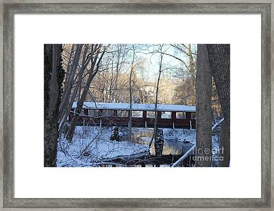 Trail River Covered Bridge Framed Print