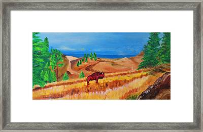 Monarch Of The Plains Framed Print by Ashley Goforth