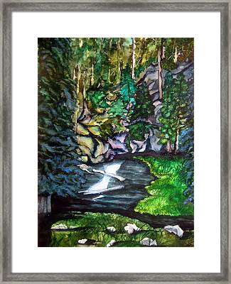 Framed Print featuring the painting Trail To Broke-off by Lil Taylor