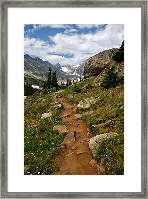 Trail To Lake Isabelle Framed Print