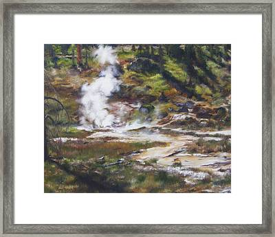 Trail To The Artists Paint Pots - Yellowstone Framed Print