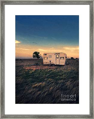 Trailer At Dusk Framed Print by Jill Battaglia