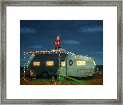 Trailer House Christmas Framed Print
