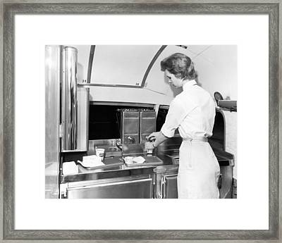 Trailways Bus Line Hostess Framed Print by Underwood Archives