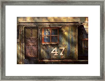 Train - A Door With Character Framed Print by Mike Savad