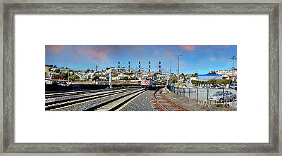 Train Approaching Framed Print by Jim Fitzpatrick