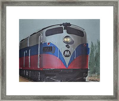 Train Approaching Framed Print