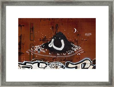Train Art Graffiti Framed Print by Carol Leigh