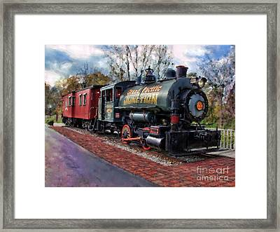 Train At Olmsted Falls - 1 Framed Print