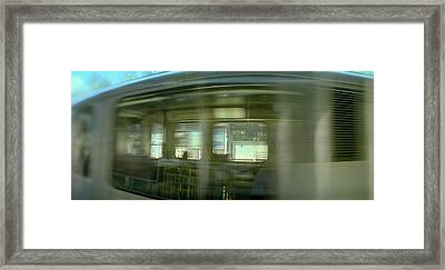 Train At Railroad Station Platform Framed Print by Panoramic Images