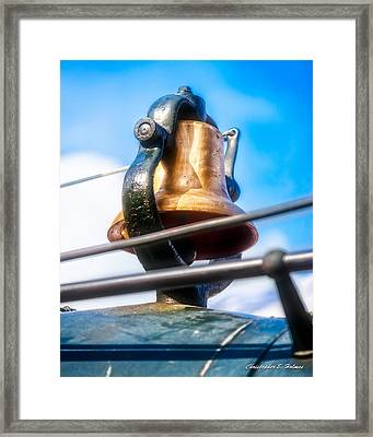 Train Bell Framed Print by Christopher Holmes