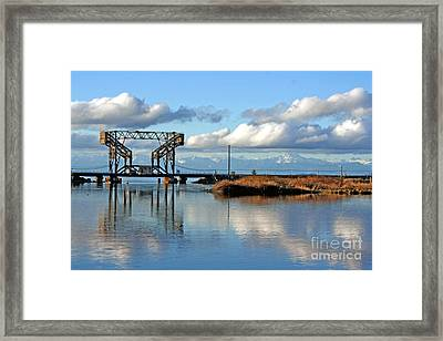 Train Bridge Framed Print