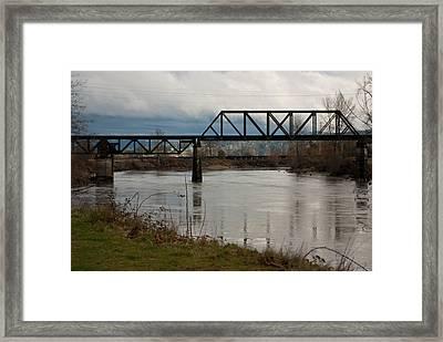 Framed Print featuring the photograph Train Bridge by Erin Kohlenberg