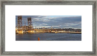 Train Bridge Panorama Framed Print