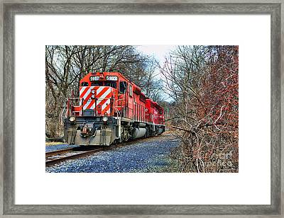 Train - Canadian Pacific Engine 5937 Framed Print by Paul Ward