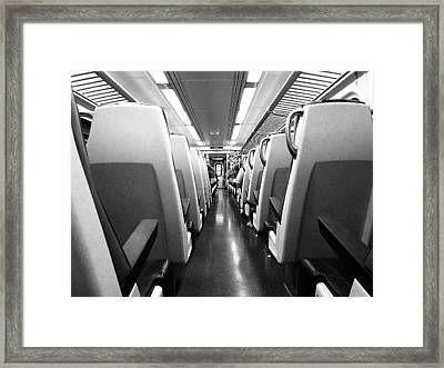 Train Car Framed Print by Sam Newton