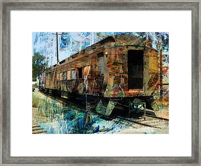Train Cars Framed Print by Robert Ball
