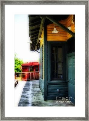 Train Depot Framed Print by Skip Willits
