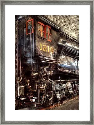 Train - Engine - 1218 - Norfolk Western - Class A - 1218 Framed Print by Mike Savad