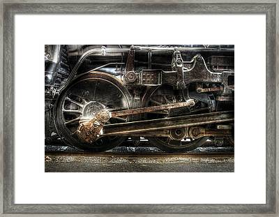 Train - Engine - 1218 - Nw Type-a 1218 Steam 2-6-6-4 Framed Print
