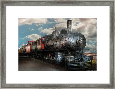 Train - Engine - 6 Nw Class G Steam Locomotive 4-6-0  Framed Print by Mike Savad