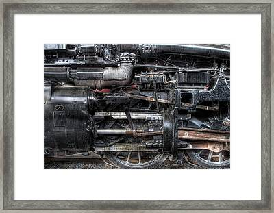 Train - Engine - 1218 - Norfolk And Western - Built 1950 Framed Print by Mike Savad