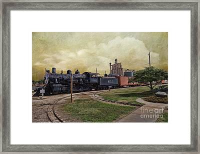 Train - Engine Framed Print by Liane Wright