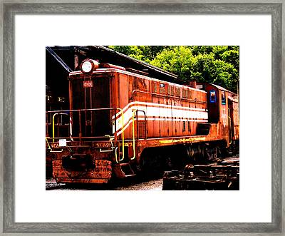 Train Engine Nc Sl  Framed Print by Mark Moore