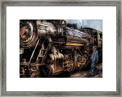 Train - Engine -  Now Boarding Framed Print