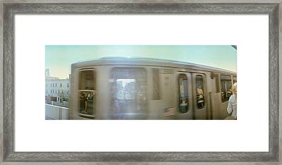 Train Entering Into Station Platform Framed Print by Panoramic Images