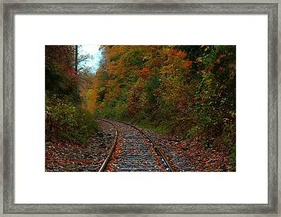 Train Fall Framed Print by Andrea Galiffi