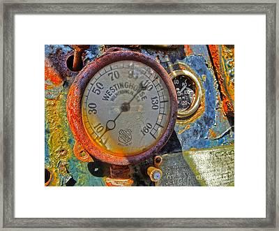 Train Gauge Framed Print by Gregory Dyer