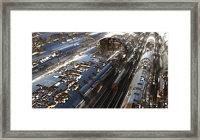 Train Framed Print by Hal Tenny