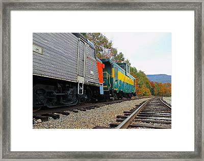 Framed Print featuring the photograph Train In New Hampshire by Amazing Jules