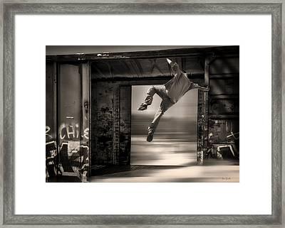 Train Jumping Framed Print