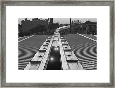 Framed Print featuring the photograph Train Keeps On Rollin by John Telfer