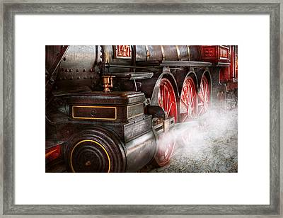 Train - Let Off Some Steam  Framed Print by Mike Savad