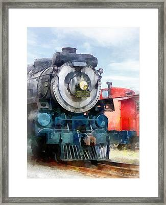 Train - Locomotive And Caboose Framed Print