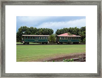 Framed Print featuring the photograph Train Lovers by Suzanne Luft