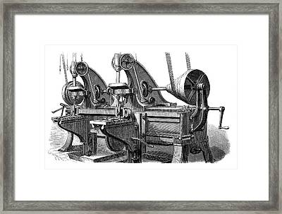 Train Manufacturing Framed Print by Science Photo Library