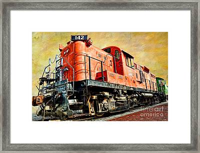 Train - Mkt 142 - Rs3m Emd Repowered Alco Framed Print by Liane Wright