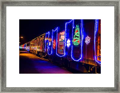 Train Of Lights Framed Print